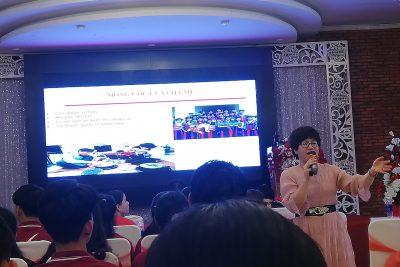 """Các học sinh khối 12 của trường THPT DTNT N' Trang Lơng đã tham gia hội thảo """"Chạm đến ước mơ cùng HVCT"""" do trường Cao đẳng Kỹ Nghệ II đã tổ chức"""